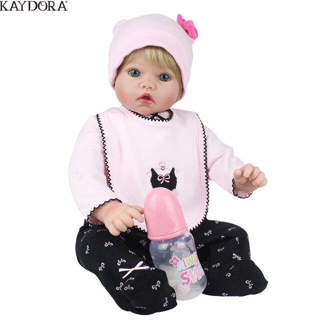 KAYDORA New Arrival 50cm Silicone Reborn Baby Dolls Boneca Realista Fashion Dolls For Princess Children Gift Bebe Reborn