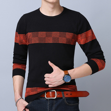 2017 new Sweater Men Brand Clothing Mens Sweaters Casual Shirt Pullover Men Pull O-Neck Dress