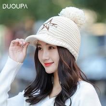 цены на Korean version of the fall winter hat outdoor fashion cap ladies wool hat warm earmuffs hair ball knit baseball hat  в интернет-магазинах