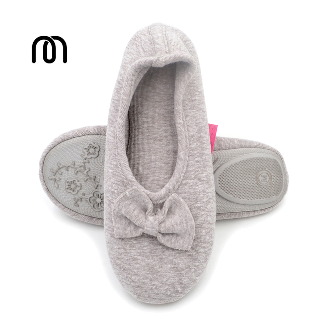 0962ebeb75d1 Millffy Women s Comfort Memory Foam Breathable Knitted Terry Lining  Washable Ballerina Slippers Anti-Skid House