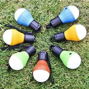Image 5 - Miniluz de noche para exterior, 1 Uds., bombilla LED para tienda de acampar, impermeable, gancho colgante, lámpara de emergencia para acampar o lámpara de pesca, uso 3 * AAA