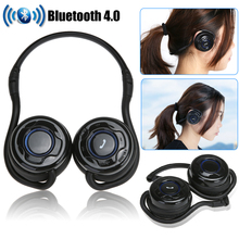 Wholesale Stereo Sound Bluetooth Headset Wireless Headphones BT 4.0 Sports Headphone With Microphone Built-in Rechargeable Li-on battery