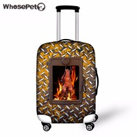 WHOSEPET Creative Oven Printing Travel Trolley Accessories Dustproof Luggage Covers 18 30 Inch Food Elastic Suitcase