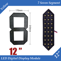 10pcs/lot 12 Yellow Color Outdoor 7 Seven Segment LED Digital Number Module for Gas Price LED Display module