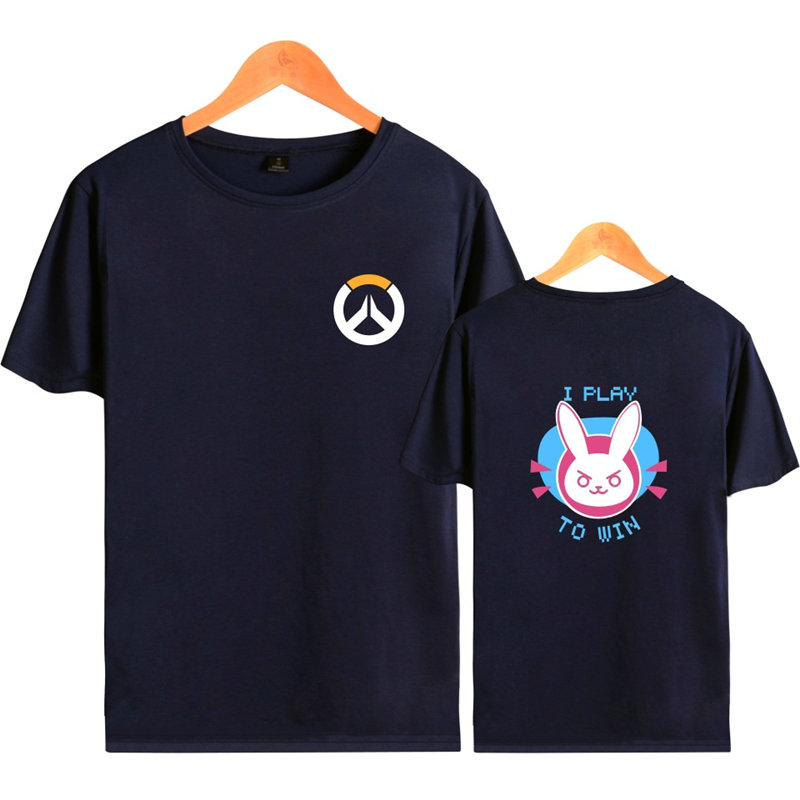 Anime Game Overwatch 3D Printed T-Shirt OW D.VA Cosplay Summer Top  Casual Short Sleeve Lover Gift 2