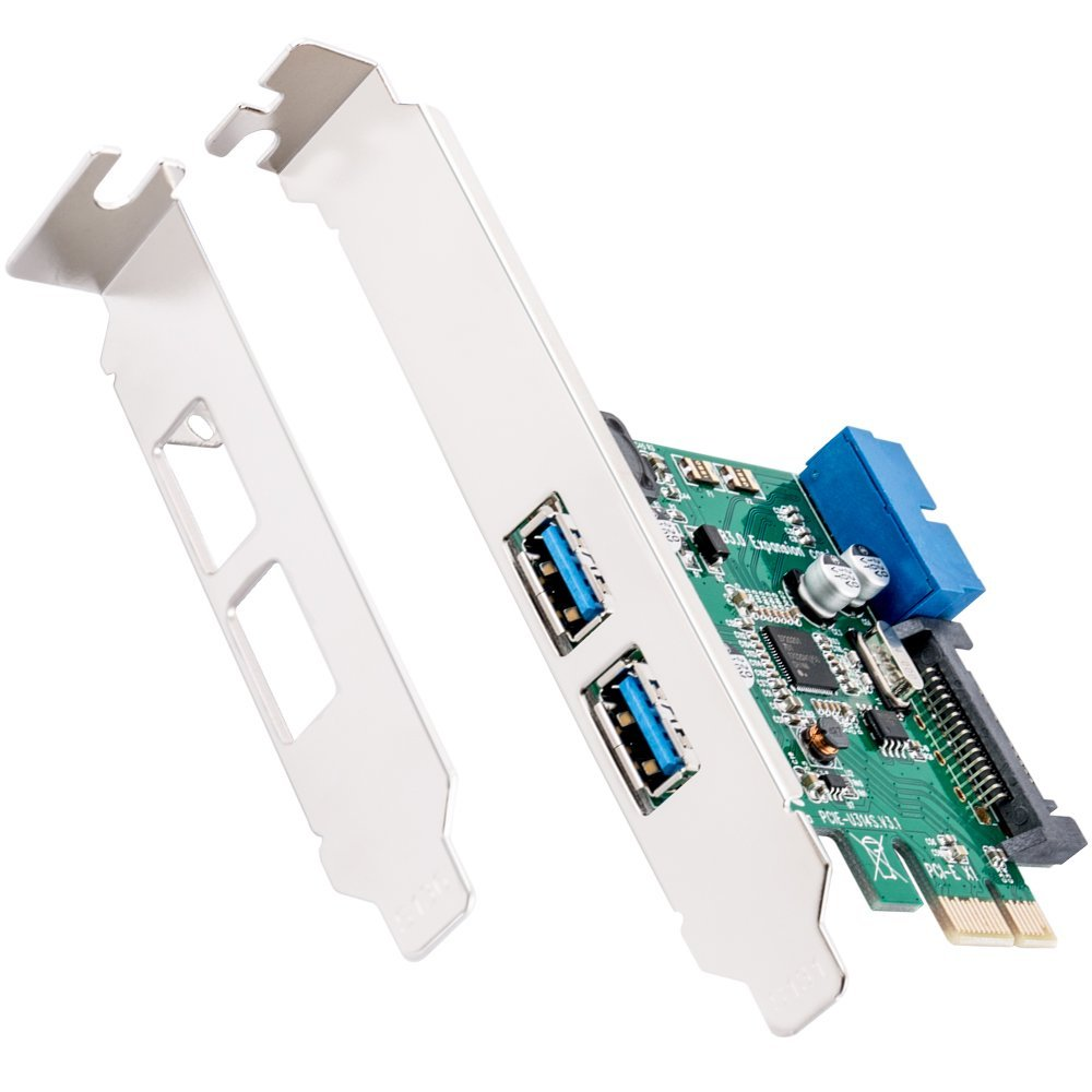 PCI Express to Dual 20 Pin USB 3.0 PCI-e X1 to 2 ports 19pin USB Header Y #