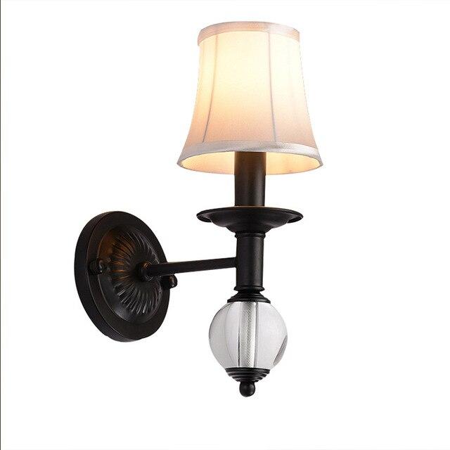 Moderne Kristall Wandleuchte Nachtwandleuchte Innentreppe Beleuchtung  Cristal Wandleuchten E27 Led Lampe Für Schlafzimmer Dekor Schwarz