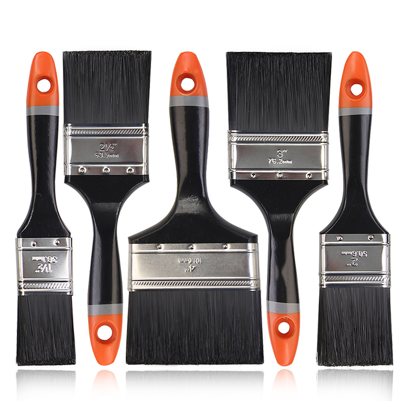 6Pcs Set Wooden Handle Paint Brush Painter Tools for Home Renovation Ash Cleaning Hands Tools Bristle brush Oil Wall Decorative in Brush from Tools