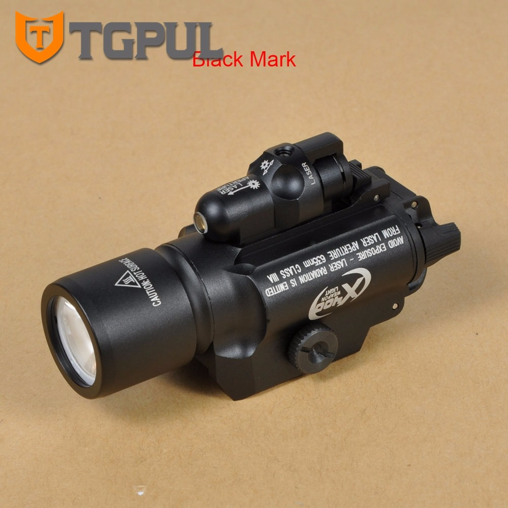 TGPUL Tactical X400 Gun Light LED Flashlight for Pistol Handgun Laser Combo Light Hunting Scout Torch for Weaver Picatinny Rail tgpul tactical m300b weapon light rifle mini scout light led flashlight constant momentary output for hunting