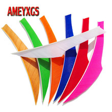 100pcs 4inch Archery Arrow Featehrs Right Wing Fletches Turkey Feathers For Outdoor Bow And Huting Shooting Accessories