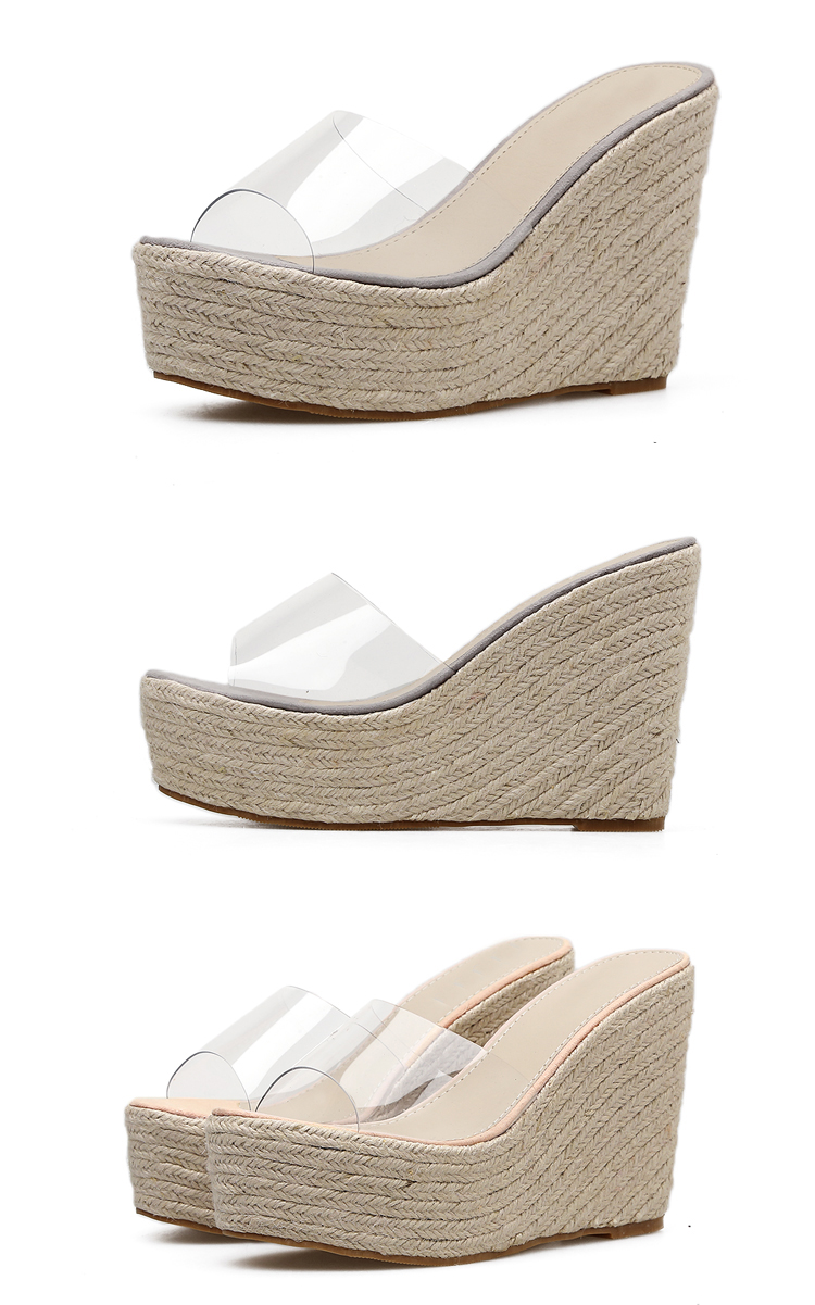 Eilyken 2019 New Summer PVC Jelly Sandals slippers Shoes Casual Sexy Wedges 11.5CM Women's Sandals slippers size 34-40