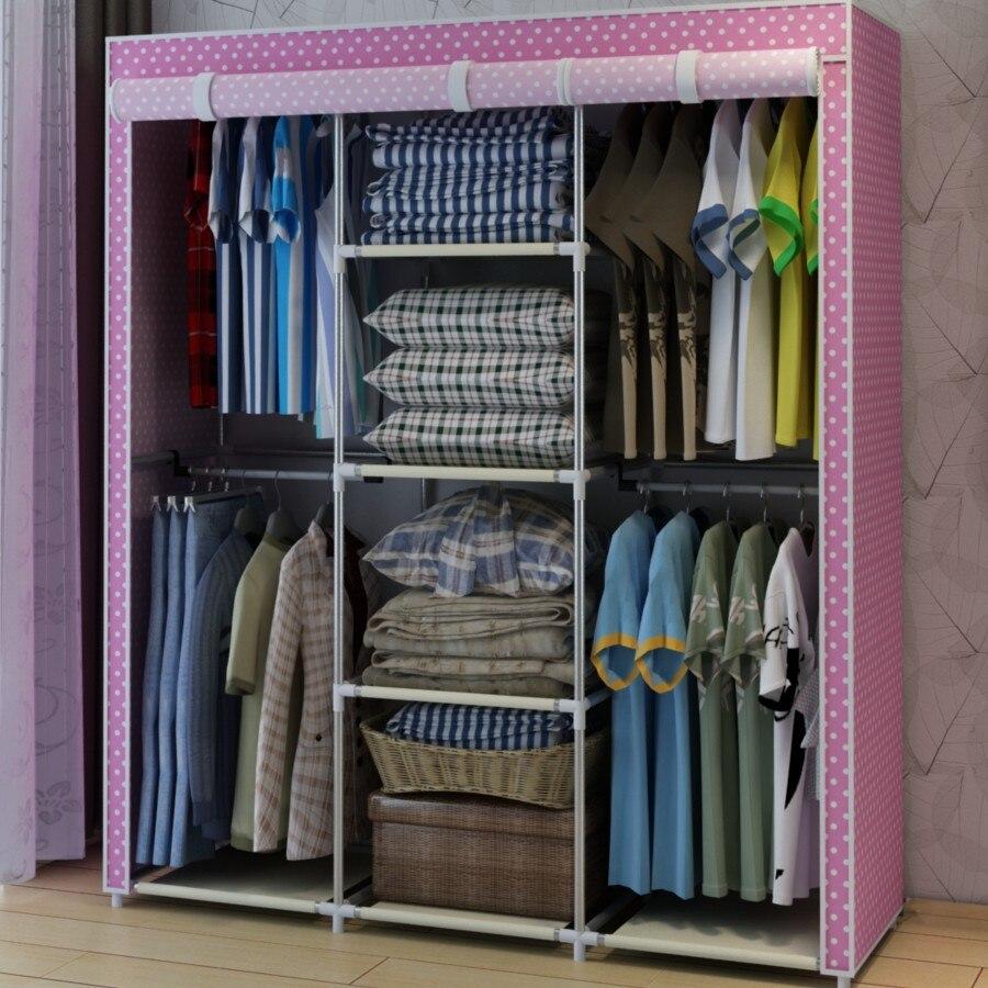 Compra armario de tela armario online al por mayor de for Armario zapatero de tela