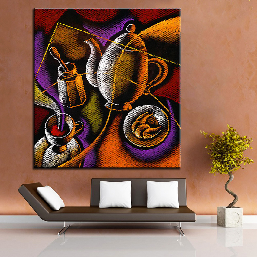 Large Size Printing Oil Painting Coffee Wall Painting Home