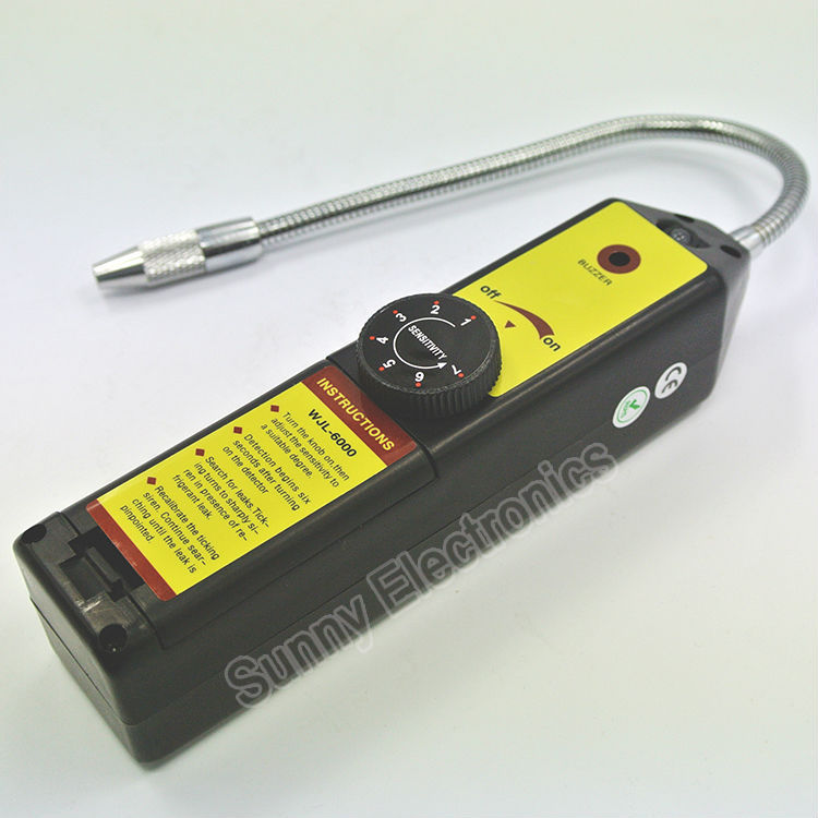 Halogen Gas CFC HFC 134a Refrigerant Freon Leak Detector Checker with LED alarm