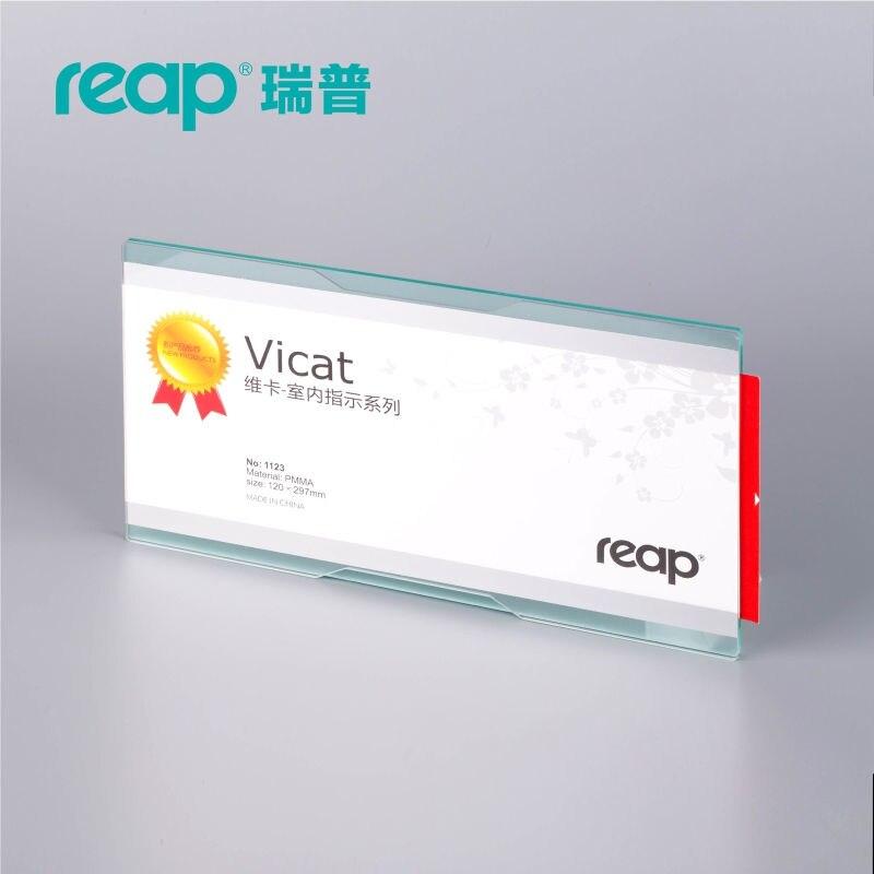 5-Pack REAP 3123 Вика Arylic 297*120 мм пейзаж Закрытый горизонтальный настенный держатель знака информационный дисплей плакат знак двери