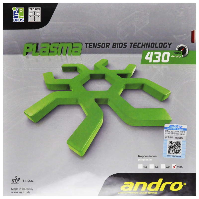 Original Andro Table Tennis Rubber Plasma 430 470 Pimples In Pips in Ping Pong Sponge Tenis