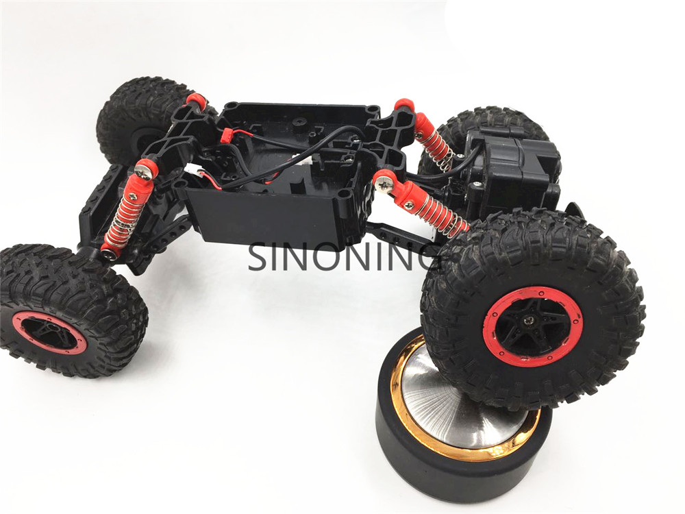 Rock Crawlers Driving Car Chassis 4WD Double Motors Drive Bigfoot  1:18 Model modify part robot car chassis SN170 2 wheel drive robot chassis kit 1 deck