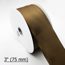 "IuBuFiGo 3""(75mm) grosgrain ribbon Solid Color for hair bows Decoration 196 Stock Color 100yard/lot/roll"