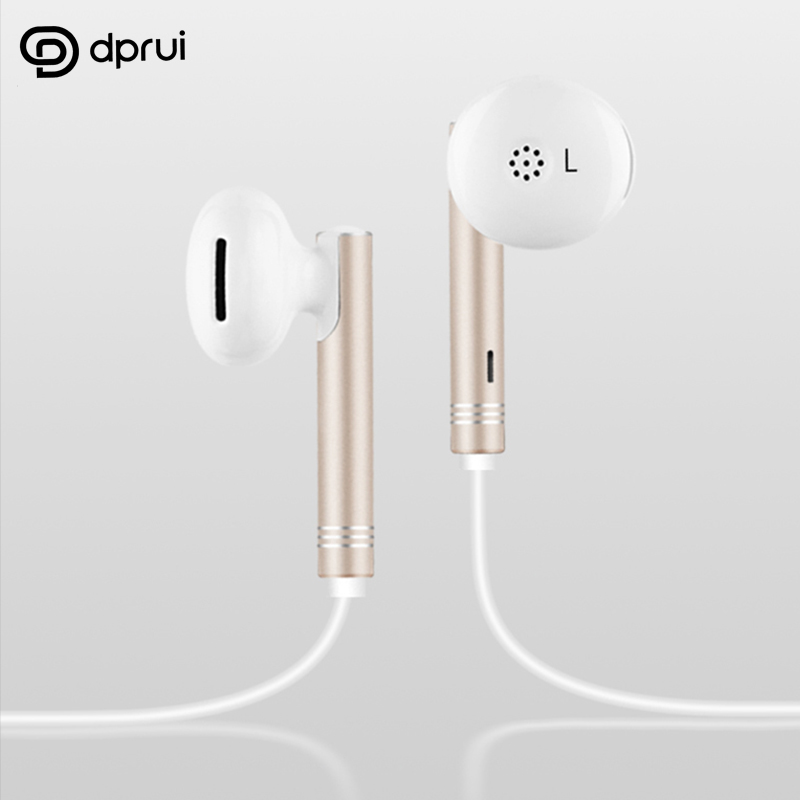 Dprui 2018 New Earphone For IPhone android Sports Headphone Mic Stereo Auriculares Headset Earbuds Earpiece earphones