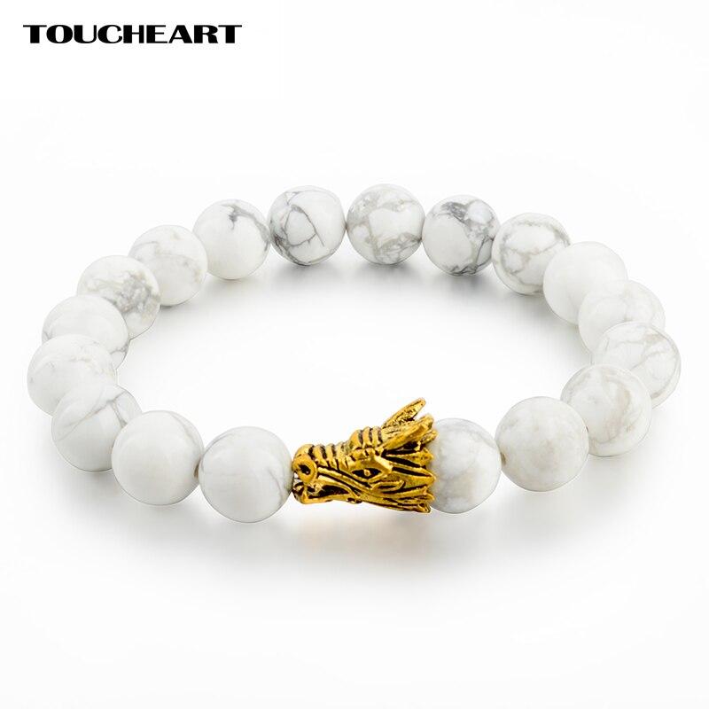 Купить браслет toucheart с подвеской в виде головы дракона на белом