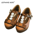CCTWINS KIDS 2017 Spring Dance T-Strap Shoe Kid Girl Fashion Children Baby Brand Mary Jane Rhinestones Princess Ankle Flat G1069