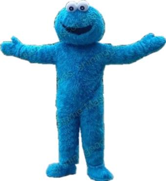 Vysoce kvalitní Sesame Street Elmo maskot Blue Cookie Monster Mascot Doprava zdarma
