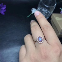 Round moonstone ring natural moonstone silver ring for engagement solid 925 moonstone ring for woman birthday gift