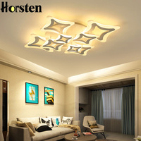 LED Ceiling Lights For Living Room Bedroom Decoration Lighting Fixtures AC110~240V Acrylic Lamp Shade Dimming Ceiling Lamps