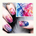 YZWLE 1 Листов DIY Наклейки Ногтей Вода Трансферная Печать Наклейки Аксессуары Для Маникюра Салона (YZW-160)