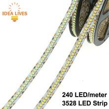 LED Strip 3528 240 LEDs/meter DC12V High Brightness 3528 Flexible LED Light 5m/lot.