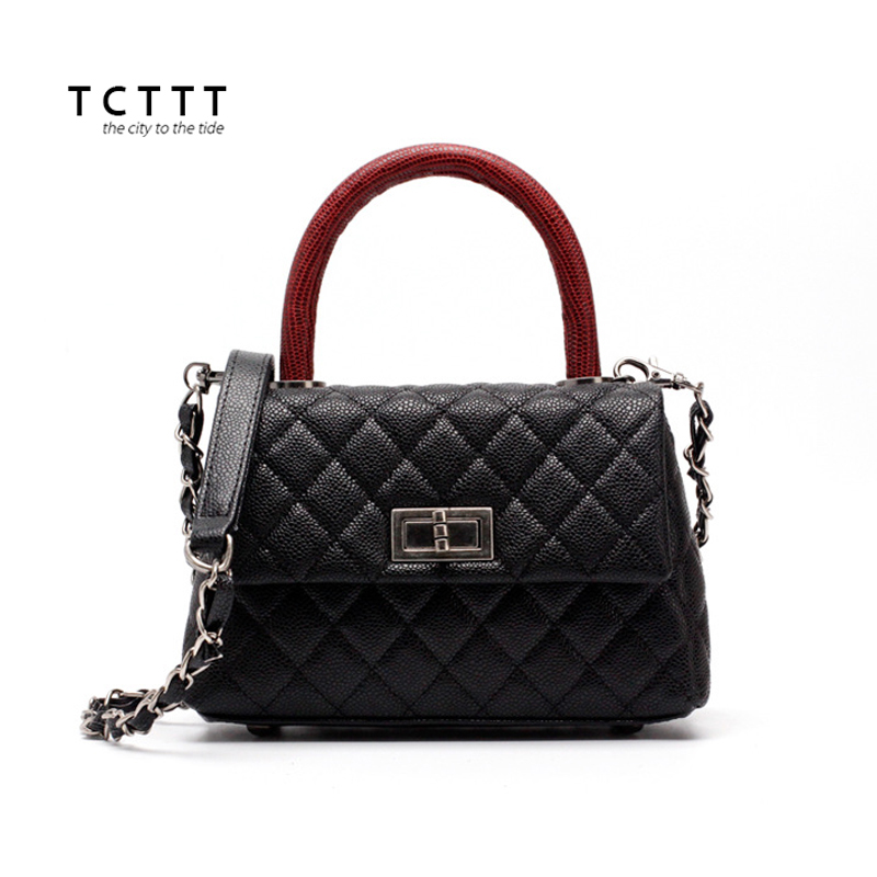 TCTTT Fashion Female Shoulder bag Casual Cowskin leather Top-handle bag luxury handbags women bags designer tote Bolsas Feminina