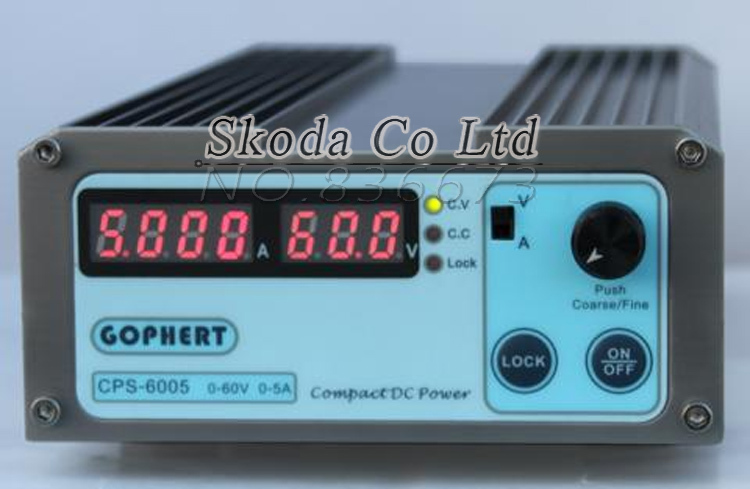 Free shipping precision digital adjustable DC Power supply CPS6005 60V5A With OVP/OCP/OTP DC power 0.001A 0.1V cps 6003 60v 3a dc high precision compact digital adjustable switching power supply ovp ocp otp low power 110v 220v