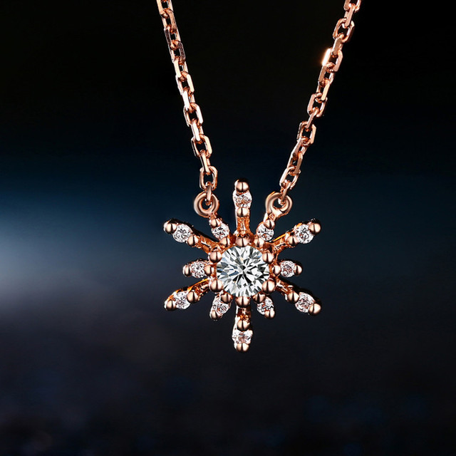 18k gold diamond snowflake pendant necklace charming fine jewelry 18k gold diamond snowflake pendant necklace charming fine jewelry 2015 new design best price for wedding mozeypictures Choice Image