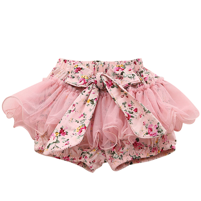 534c60c0f76f Skirt Shorts Baby Cotton Chiffon Ruffle Bloomers Cute Bow Tie Baby ...