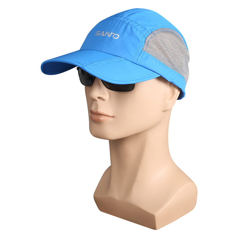 UPF50+ Unisex Foldable Running Cap Outdoor Camping Hiking Anti-UV Hat Cycling Caps Golf Mesh Fabric Men Women M-38