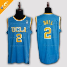 d8720d10daf Lonzo Ball UCLA College Basketball Jersey 2  High Quality Breathable  fabrics White Blue Colors Sleeveless Jerseys Throwback