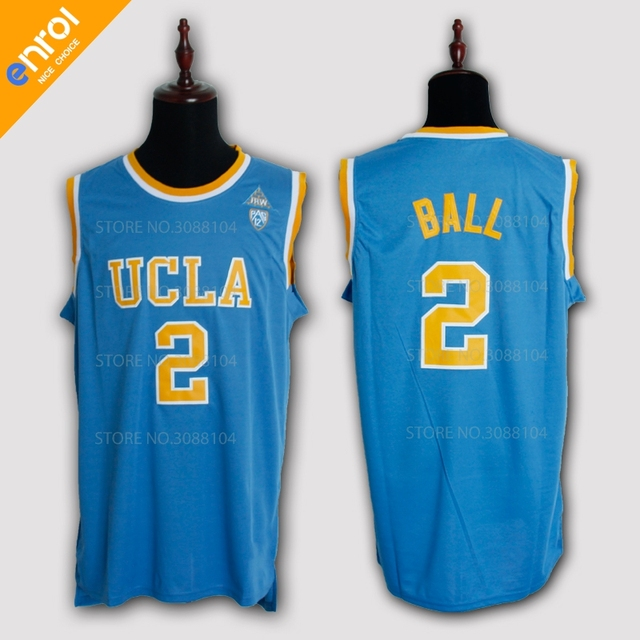 Lonzo Ball UCLA College Basketball Jersey 2  High Quality Breathable  fabrics White Blue Colors Sleeveless Jerseys Throwback d04401a9c