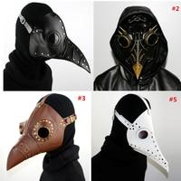 Hand Made PU Leather Plague Doctor Death Mask Bird Beak Spike Steampunk Steam Punk Gothic Halloween LARP Cosplay Adult Toys