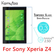 "Z4 9H 0.3mm 2.5D Explosion-Proof Toughened Tempered Glass For Sony Xperia Z4 10.1"" Tablet PC Film Clear Screen Protect Cover"