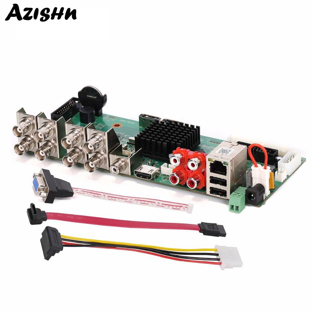 AZISHN 5 IN 1 Hybrid AHD/TVI/CVI/CVBS/IP AHD DVR HD 8CH 1080P CCTV Mini DVR Board ONVIF H.264 NVR DVR VGA HDMI Security SystemAZISHN 5 IN 1 Hybrid AHD/TVI/CVI/CVBS/IP AHD DVR HD 8CH 1080P CCTV Mini DVR Board ONVIF H.264 NVR DVR VGA HDMI Security System