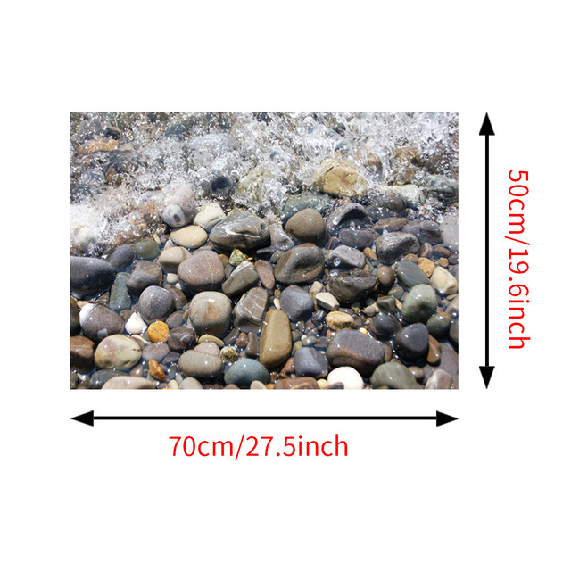 Creative River Stone Wall Sticker 3d Cobble Waterproof Bathroom Kitchen Floor Decor Stickers diy Unique Home Decoration SD159