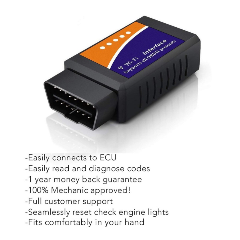 Neue <font><b>Elm327</b></font> <font><b>Wi</b></font>-<font><b>fi</b></font> <font><b>OBD2</b></font> V1.5 Diagnose Auto Scanner Mit Beste Chip Ulme 327 Wifi OBD Geeignet Für IOS Android /iPhone Windows image