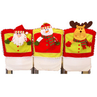 3Pcs Doll Xmas Chair Cover 42*47cm (16.54*18.50) Christmas Decoration High Grade Covers Home Supplies CRS005