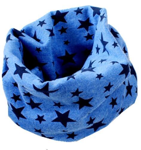Новинка; сезон осень-зима; шарф из хлопка для девочек; Детский шарф; нагрудный шарф для мальчиков и девочек с круглым кольцом; милый детский шарф с воротником; Bufandas - Цвет: dark blue star