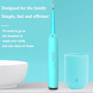 Image 4 - Yeni tasarım elektrikli Sonic diş ölçekleyici diş Calculus Remover diş lekeleri Tartar silgi ev kullanımı Toothwash aracı arkadan aydınlatmalı
