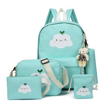 Clouds Printing Children School Bags Set For Girls Teenagers 5pcs Backpacks Kids Orthopedics Schoolbag Backpack mochila infantil