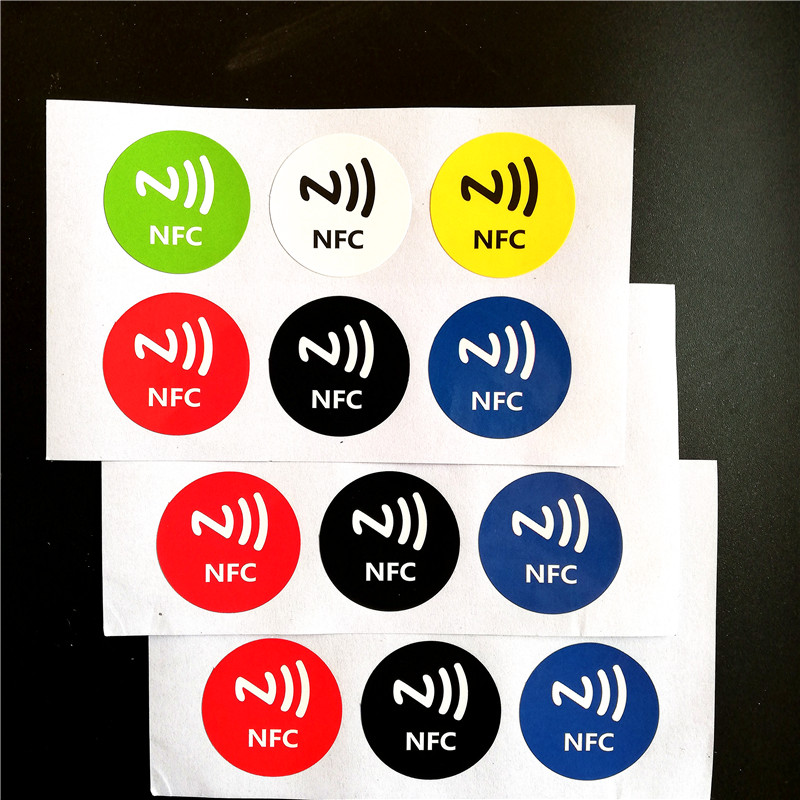 6Pcs/lot 13.5MHZ UID Changeable MF S50 1K NFC Sticker Card Clone Copy Back Door Rewritable Blank RFID Chinese Magic Card