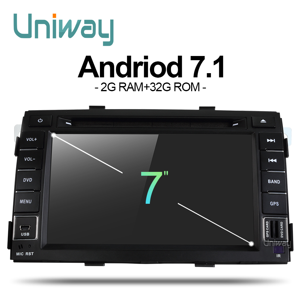 Uniway ZLSLT7071 32 2G + G android 7.1 dvd do carro para kia sorento 2009 2010 2011 2012 2 din in dash car stereo unidade central gps nagavition