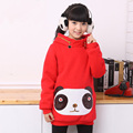 children's clothing child autumn 2014 big boy sweatshirt long design female child sweatshirt thickening fleece