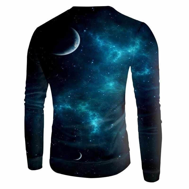 OGKB Мужская/Женская 3D Толстовка с принтом Galaxy Space толстовки хип-хоп Длинный Рукав Crewneck пуловеры длинный рукав джемпер свитшоты 5XL